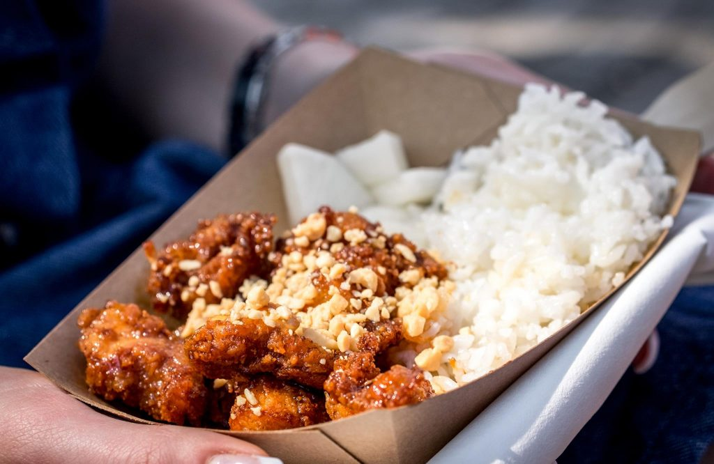 Crispy Chicken Korean Style am Street Food Market Festival Linz 2016